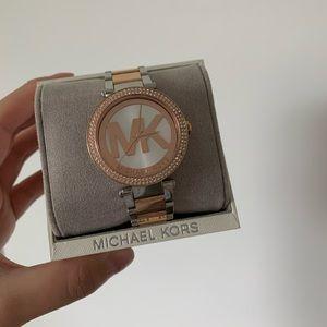 Michael Kors MK rose gold diamond women's watch